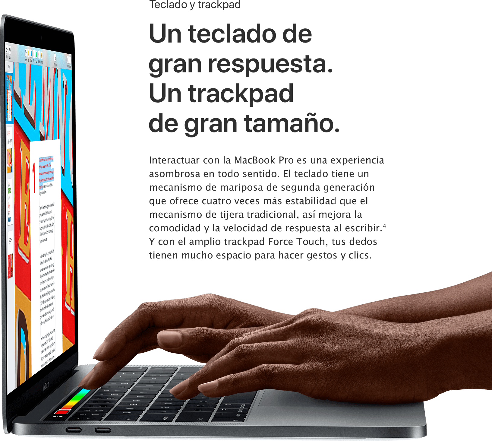 MacBook Pro Teclado y Trackpad MacStore