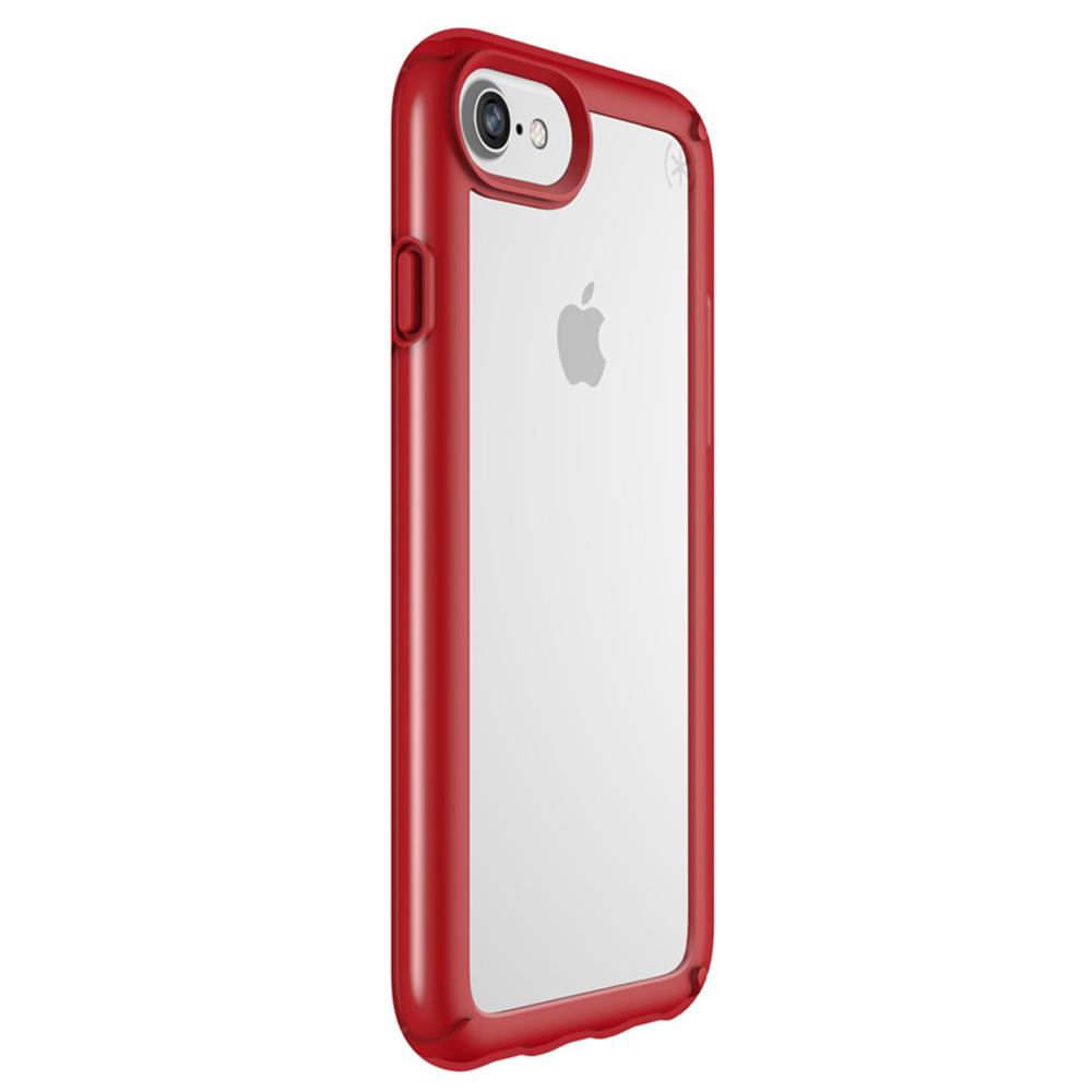 adfc01a1301 Funda Speck Presidio Show Case para iPhone 6/7/8 Transparente/Rojo