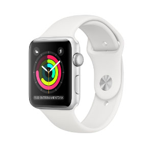 Apple Watch MTEY2CL/A S3 GPS 38mm Aluminio Plata Correa Dep Blanca