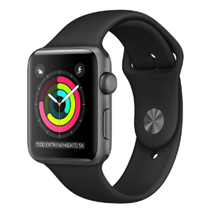 Apple Watch MTF32CL/A S3 GPS 42mm Alum Gris Espacial Correa Dep Negra