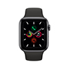 Apple Watch MWW12LZ/A S5 GPS + Cell 44mm Alum Gris esp Deportiva negra