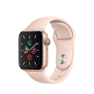Apple Watch MWWP2LZ/A S5 GPS+Cell 40mm Aluminio Oro Dep Rosa Arena