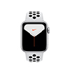 Apple Watch MX3R2LZ/A S5 GPS 40mm Aluminio Plata Nike Sport Plat Ngr