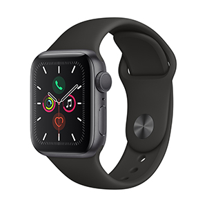 Apple Watch MWV82LZ/A S5 GPS 40mm Aluminio Gris Esp Correa Dep Negra