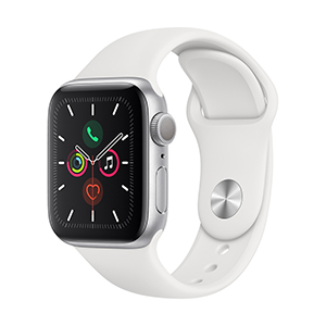 Apple Watch MWV62LZ/A S5 GPS 40mm Aluminio Plata Correa Dep Blanca