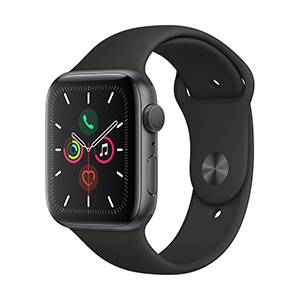 Apple Watch MWVF2LZ/A S5 GPS 44mm Aluminio Gris Esp Correa Dep Negra