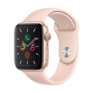 Apple Watch MWVE2LZ/A S5 GPS 44mm Aluminio Oro Correa Dep Rosa Oro