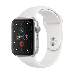 Apple Watch MWVD2LZ/A S5 GPS 44mm Aluminio Plata Correa Dep Blanca
