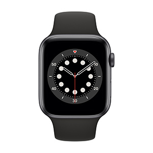Apple Watch M00H3LZ/A S6 GPS 44mm Alum Gris Espacial Correa Dep Negra