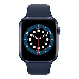 Apple Watch M00J3LZ/A S6 GPS 44mm Aluminio Azul Correa Dep Azul Marino